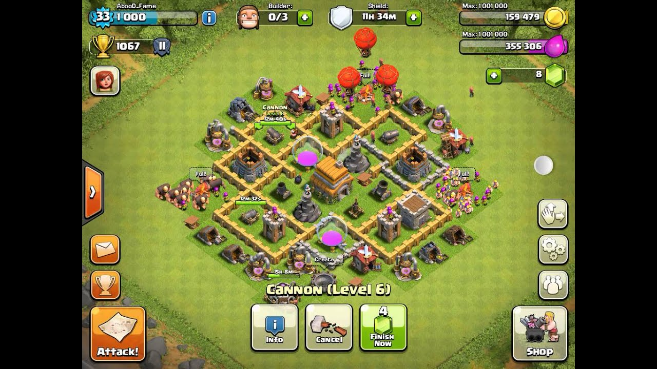 Clash of clans best defense strategy town hall level 6 - YouTube