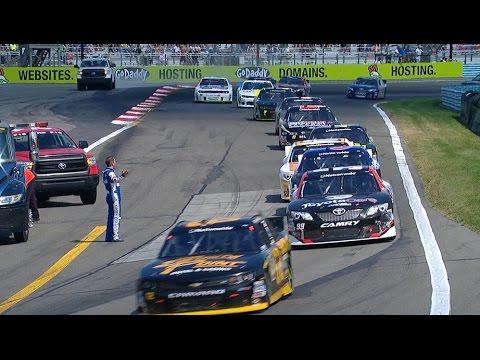 J.J. Yeley Crash @ 2014 NASCAR Nationwide Watkins Glen