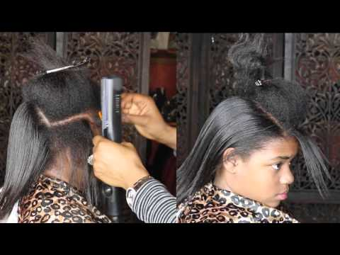 HOW TO ACHIEVE  BONE STRAIGHT TRANSITIONING HAIR USING JSHEAOIL