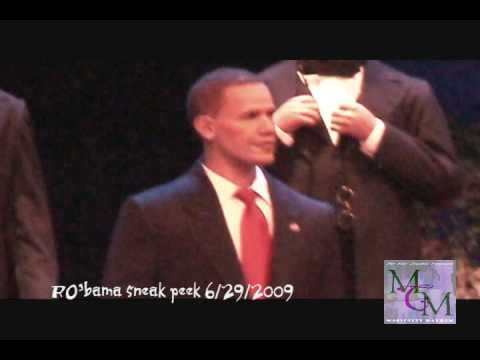 Pres. Barack Obama in the Hall of Presidents