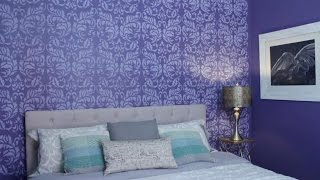 PARED ACENTO CON ESTENCIL/ HOW TO PAINT AN ACCENT WALL WITH STENCILS