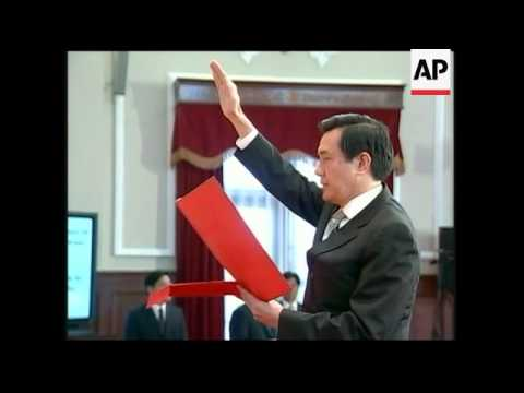 Ma Ying-jeou is sworn in as new Taiwanese president