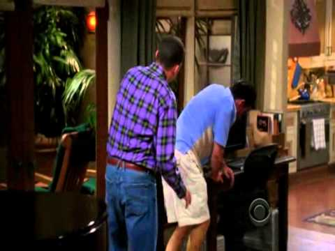 Two and a half men- Charlie gets hurt