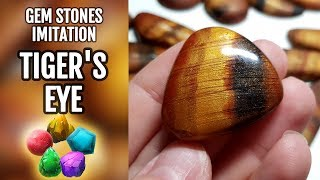 DIY GEMSTONE Imitation. Tiger's Eye gemstone from polymer clay!