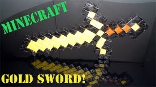 Origami Daily - 431: Minecraft Gold Sword (no Glue Or Tape - Sonobe) Budder Sword - Tcgames [hd]