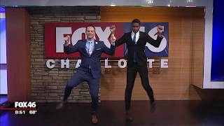 Dancing Weather Man dances with Mr. Hot Spot
