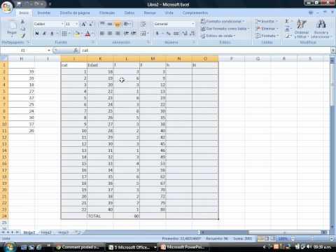 Cómo construir una tabla de frecuencia para datos no agrupados en Excel