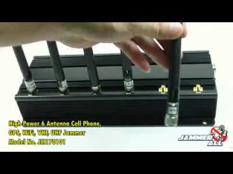 Cell jammer:GPS + Wifi + VHF + UHF + Cell Phone High Power Signal Jammer