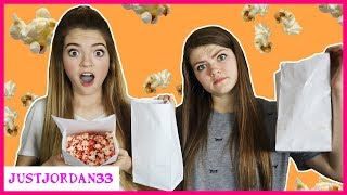 Popcorn Taste Test Challenge And Fun Fluffy Popcorn Experiment / JustJordan33