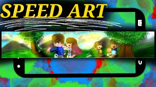 SPEED ART BANNER #TEUSUDOS #54