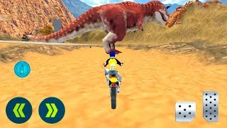Offroad Dino Escape Heavy Bike Racing - Android Gameplay
