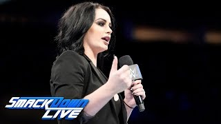 Paige opens SmackDown ready to fire Samoa Joe: SmackDown LIVE, Oct. 2, 2018
