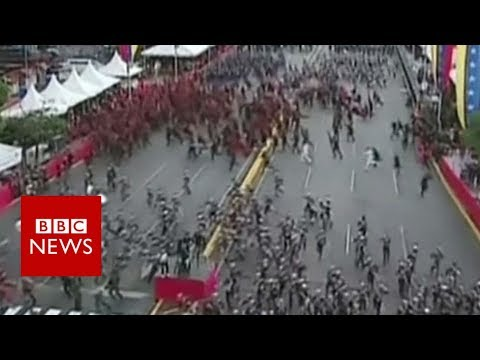 Venezuela 'drone attack': Soldiers seen running - BBC News