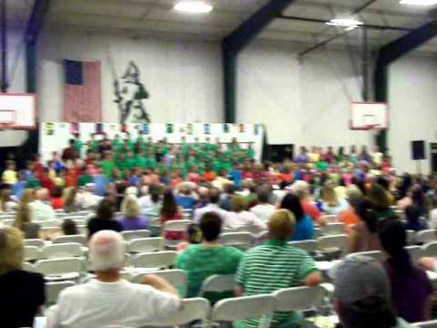 Greenfield School ~ Wilson, NC singing We Are the World at Spring Arts Festival April 19 2011