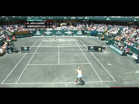 Serena Williams vs Maria Sharapova 2008 Charleston Highlights