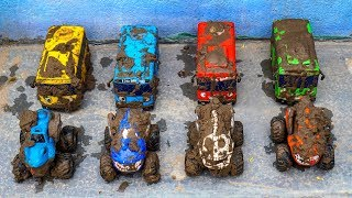 Car Toys Pretend Play | Fine Car Toys In The Sand And Wash Car Toys For Children | MK Toys Colors