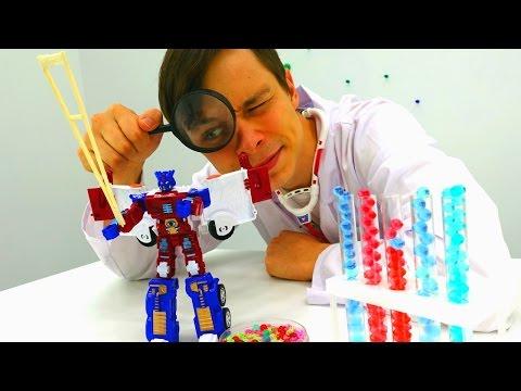 Трансформер Оптимус Прайм у Доктора Ой. Игры для мальчиков