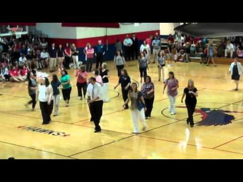 Hancock High Staffulty Performs Flash Mob to Call Me Maybe! ~2012 First Day of School; Kiln, MS~