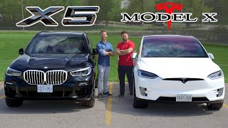 2019 BMW X5 50i vs Tesla Model X // Battle Of The X's