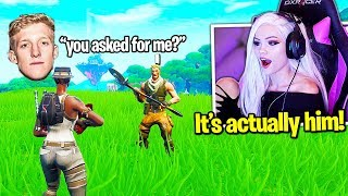 Her Random Duo is Tfue's Little Brother (CALLS TFUE ON STREAM!) Fortnite