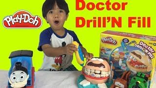 Play Doh Doctor Drill N Fill Playset Dentist with Thomas and Friends Ryan ToysReview