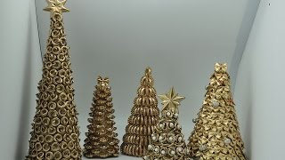 Jak zrobić choinkę z makaronu# How to make christmas tree out of  pasta DIY