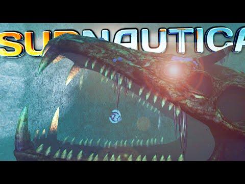 GARGANTUAN CREATURE SKELETON IN THE LOST RIVER BIOME!   Subnautica - Part 15