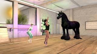 Scene: Psy ballet in Second Life