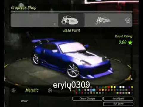 NFS Underground 2 - Nissan 350Z Tuning - YouTube
