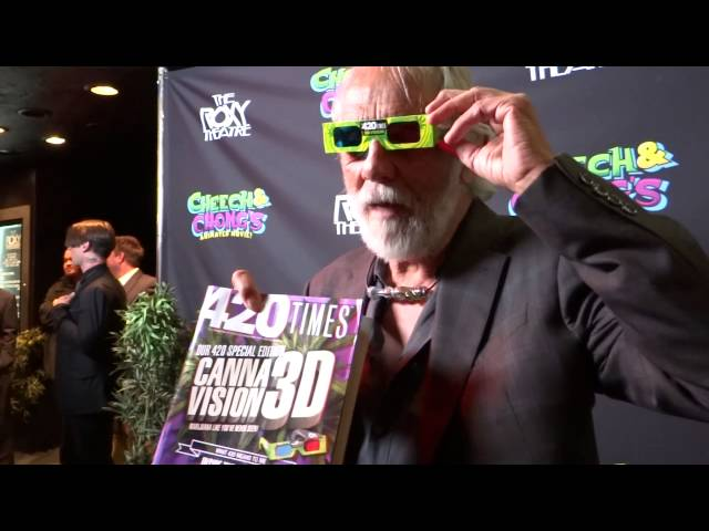 Tommy Chong and the newest issue of The 420 Times in 3D
