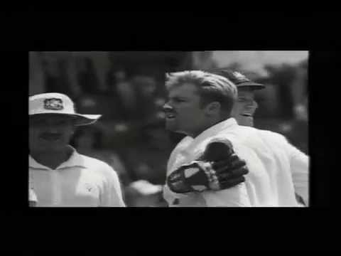 Insane sledging by Shane Warne, out of control in a test match