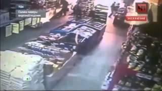 В Уфе грабители облили инкассаторов бензином и подожгли