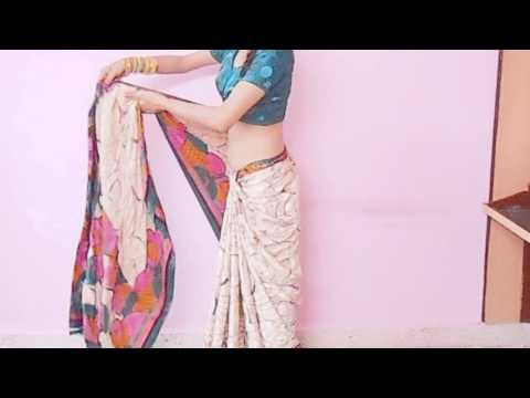 How To Wear Sartin Saree In Bollywood Style-How To Tie Saree To Give Tall And Slim Look