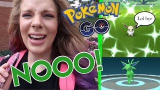 I LOST A SHINY EEVEE! + Shiny Espeon Evolution in Pokemon GO! Eevee Community Day 2 Vlog!