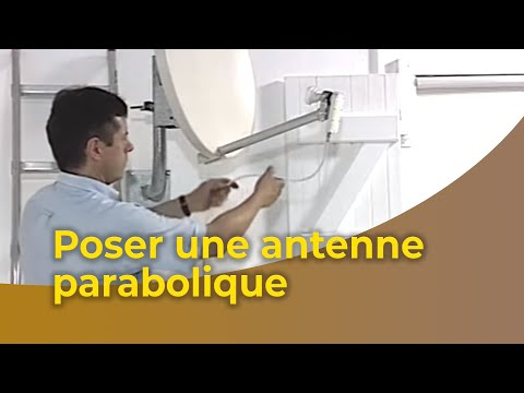 la pose d 39 une antenne parabolique youtube. Black Bedroom Furniture Sets. Home Design Ideas
