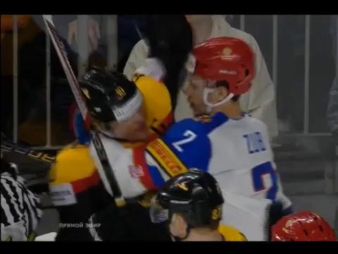 Чемпионат мира по хоккею 2017. Россия-Германия счет 1:0 опасная игра удаление у Германии