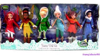 6 Disney Fairies Doll Set - Tinker Bell Secret of the Wings Silvermist dolls