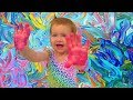 Crazy Finger Painting and Learning Colors!!