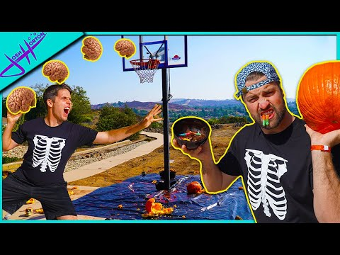 MESSY RANDOM OBJECT BASKETBALL SHOOTOUT! 🎃Halloween Edition 🎃