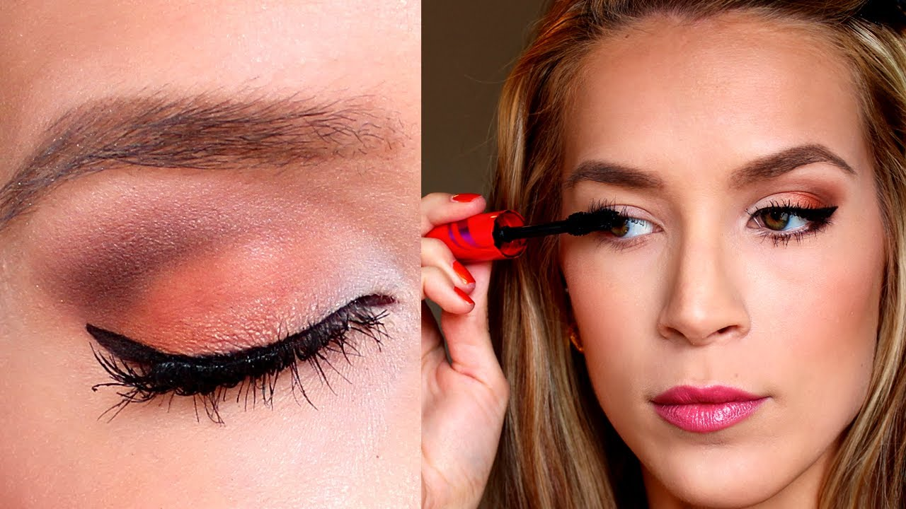 Tutorial on eye makeup