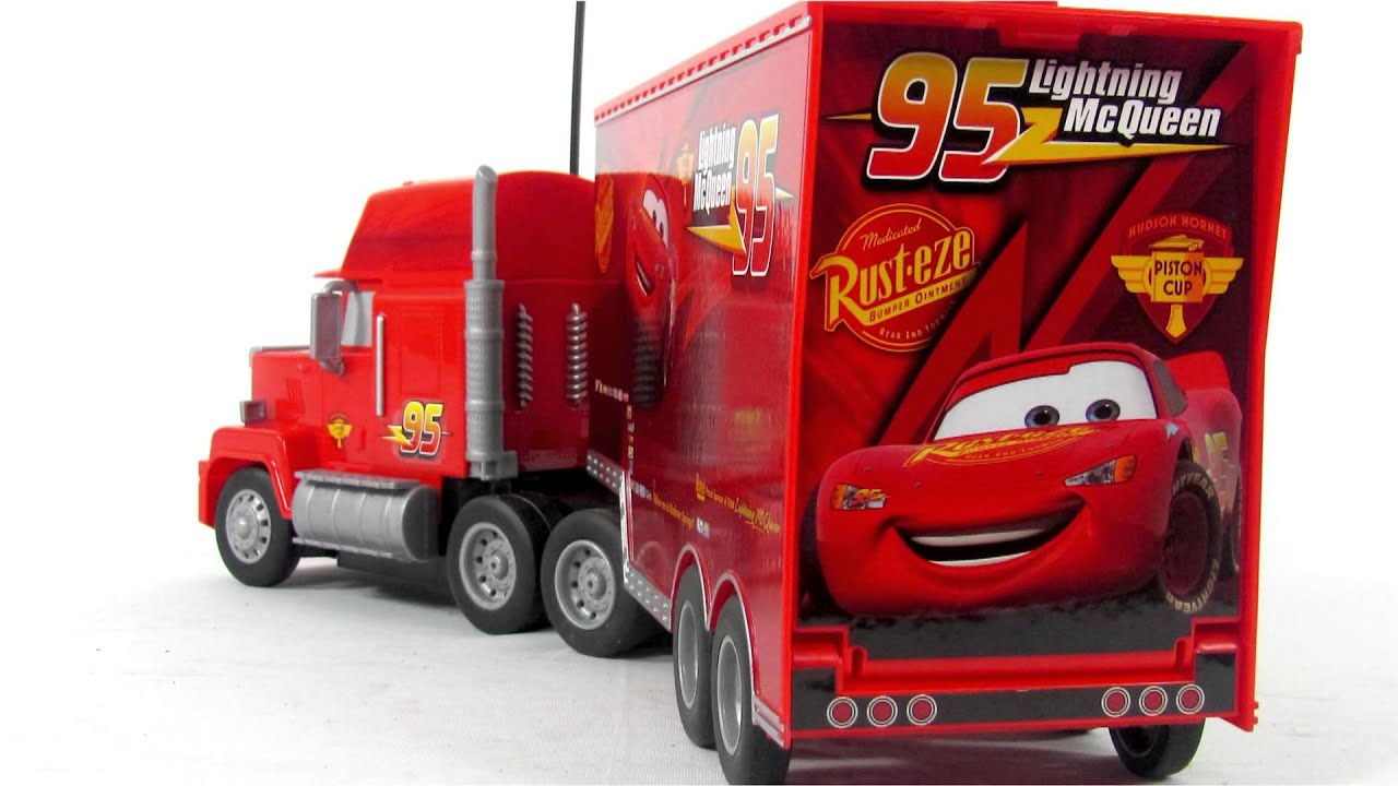 disney pixar cars2 toys rc turbo mack truck toy video. Black Bedroom Furniture Sets. Home Design Ideas