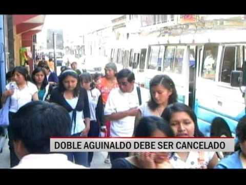 28/11/2014 - 13:53 DOBLE AGUINALDO DEBE SER CANCELADO