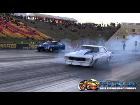 DANDY ENGINES OUTLAW 10.5 TWIN TURBO V8 CAMARO APSA SHOOTOUT SYDNEY DRAGWAY