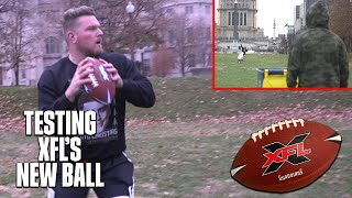 Pat McAfee Tests The XFL's New Ball