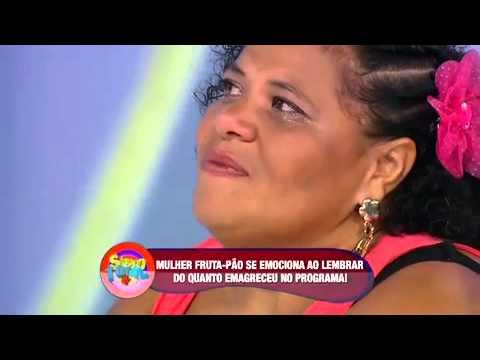 Mulher Fruta Pão faz cirurgia no estômago e mostra resultado - Sábado Total 29/03/2014