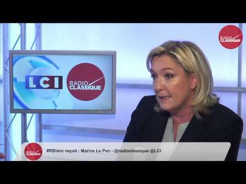 Marine Le Pen, invitée de Renaud Blanc avec LCI
