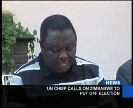 Press TV, Ban kimoon, Zimbabwe run-off should be put off