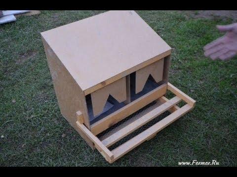 Гнездо для несушек своими