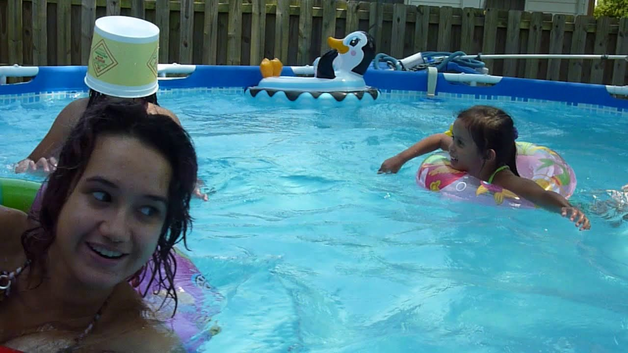 My funny gurls playing marco polo fun game the swimming pool 08 08 12 youtube for Two player swimming pool games