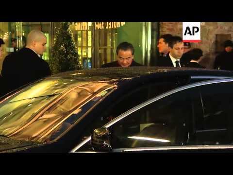 UK's Hammond and China's Wang leave talks venue